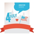 Independence day of America Flag over City vector image