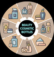 infographic set of beauty cosmetic bottles vector image vector image