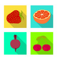 isolated object fresh and red sign collection vector image