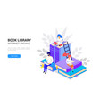 isometric library concept web archive and e vector image vector image