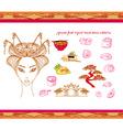 japanese food-original hand drawn set vector image