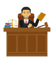 judge character working at the court vector image