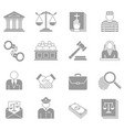 law and enforcement icons set vector image