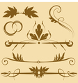 leafy design elements vector image vector image