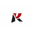 Letter K logo design vector image
