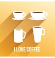 llustration with coffee cups vector image