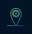 map pointer with lightning colored line vector image
