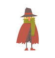 mature homeless man character in ragged clothes vector image vector image