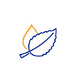 mint leaves line icon herbal leaf vector image