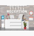 modern reception interior vector image vector image