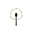 Organic food logo vector image vector image