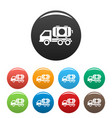 petrol truck icons set color vector image vector image