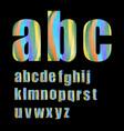 pixel lowercase grunge alphabet in soft pastel vector image vector image