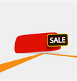 red sale tag on white vector image vector image