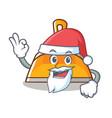 santa dustpan character cartoon style vector image vector image