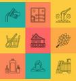 sauna theme icon set vector image