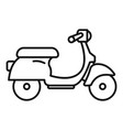 scooter delivery icon outline style vector image