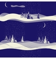 seamless winter background landscape vector image vector image