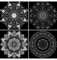 Set of four ornamental pattern vector image