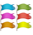 Sets of empty flags vector image