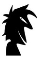 shadow character expression vector image