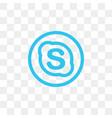 skype social media icon design template vector image vector image