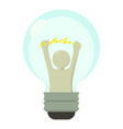 smart light bulb icon cartoon style vector image vector image