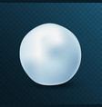 snowball isolated on blue background frozen ice vector image vector image