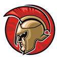 Spartan warrior head vector image vector image