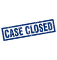 square grunge blue case closed stamp vector image vector image