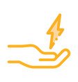 strong person energy icon outline vector image
