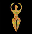 symbol of the wiccan goddess vector image vector image