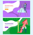 teamwork of successful team searching for ideas vector image vector image