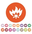 The fire icon Bonfire symbol Flat vector image vector image