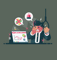 trader in panic and anxiety vector image vector image