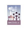 trip to brussels travel poster template vector image vector image