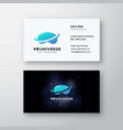 virtual reality universe abstract sign or vector image
