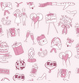 wedding or valentine s day seamless pattern vector image
