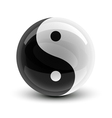 Yin and yang symbol on a glossy ball vector | Price: 1 Credit (USD $1)
