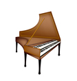 A Retro Harpsichord Isolated on White Background vector image