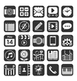 Application icons for smartphone and web vector image