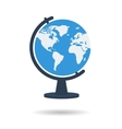 Flat school globe icon vector image
