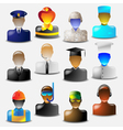 set of glass icons vector image