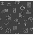 seamless background of stock forex icons finance vector image