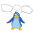 A penguin with empty callouts vector image vector image