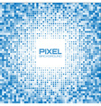 Abstract blue pixel background