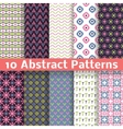 Abstract patterns Set of seamless background vector image vector image