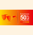 abstract sunglasses with colored lenses discount vector image