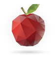 apple low poly vector image