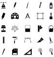 art tool icon set vector image vector image